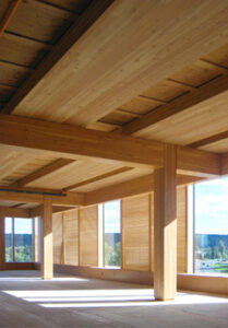 Sound engineering in wood buildings to control noise